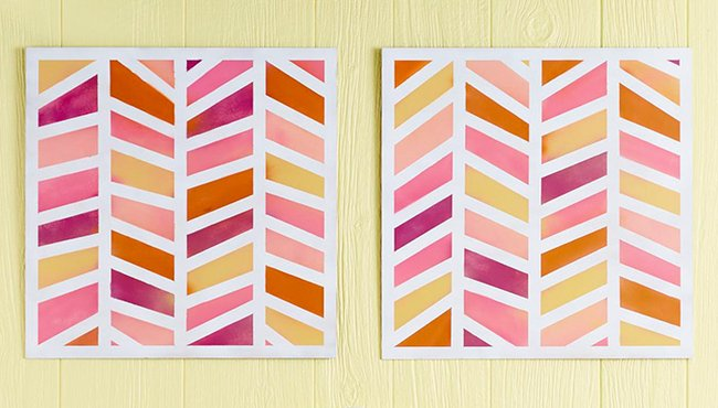 Decorazioni geometriche per pareti fai da te - Fai da Te Creativo