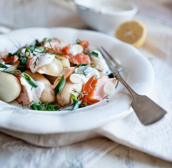 Smoked Salmon and Potato Salad with Dill via anthologymag.com